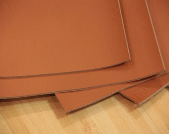 Natural Genuine Cow Leather. Saddlecloth. 1 piece 12 inch x 10 inch. 30 cm x 25 cm. 9 oz (3.5 mm).  Light Brown.