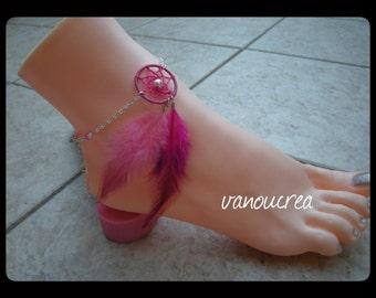grabs foot jewelry fuchsia dream