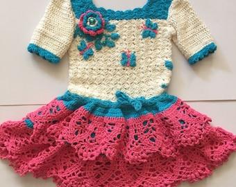 Dress fabric handmade handmade with decorative details