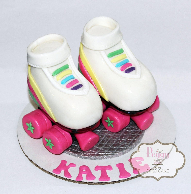 Usa roller skating rink queens - 3d Fondant Roller Skates Cake Topper Set
