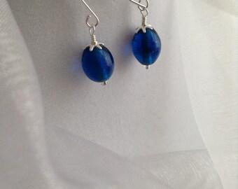 Czech Glass Dangle Earrings