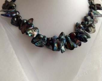 Sold at Craftadian ~ Beautiful Blue Baroque Pearl Necklace