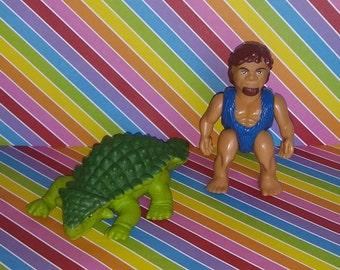 Vintage 1980s Playskool Definitely Dinosaurs (Caveman and Dino)