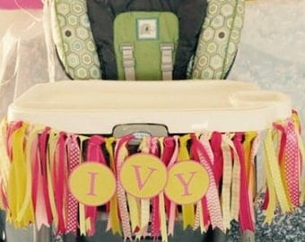 Ivy Ribbon Highchair Banner