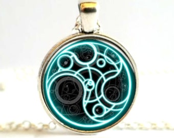 Time Lord Symbol - Doctor Who Cabochon Necklace Pendant