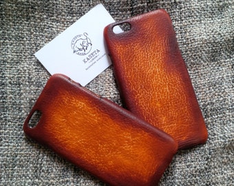 iPhone 6, 6s  leather case 'Old DarkBrown'
