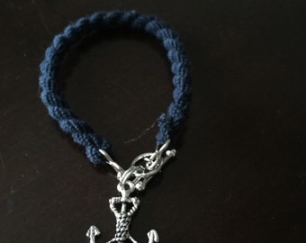 US Navy boot band anchor charm bracelet