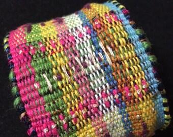 Woven Cuff Bracelet-   Medium.