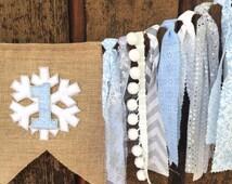 Winter ONEderland SALE, Winter wonderland theme, Snowflake highchair banner, Winter ONEderland birthday, Winter Wonderland first birthday