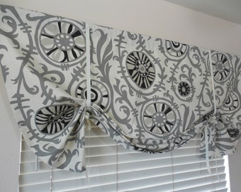 Window tie up valance baloon valance tie up curtain roll up shade