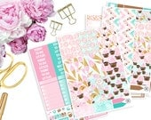 Sweet Treats Vertical ECLP Weekly Kit -- Matte Planner Stickers