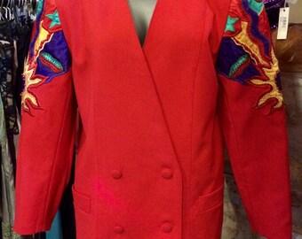 1990's Puszta double row wool jacket. Size M.