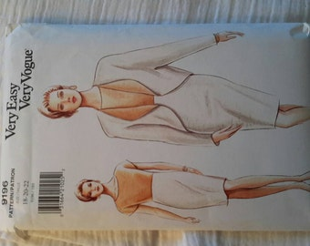 Very Easy Very Vogue Pattern Size 18, 20, 22 # 9196