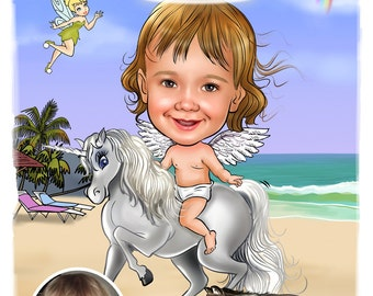 Cartoon Caricature - Personalized From Your Photos