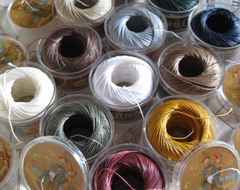 Fil au Chinois 50 Meters No.40 Twisted Waxed Linen Thread Capsules 0.5mm