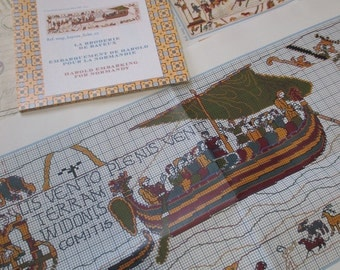 Sajou Museum & Heritage Bayeux Tapestry Embroidery Chart- Harold's Embarkment at Normany