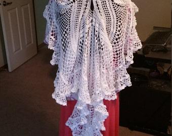 Crochet Wedding Veil White