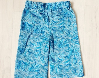SALE! Ready to Ship! Handmade Boys Liberty of London Print Trousers in Engine age 0-3m Tana Lawn