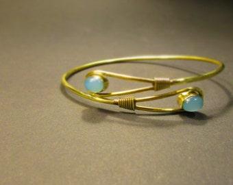 Upper arm bracelet brass