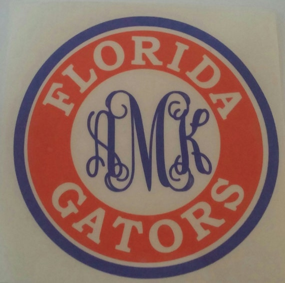 Florida Gator Stickers : Inspired personalized florida gators decal by kissmymonograms