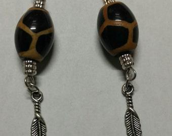 Giraffe print bead earring