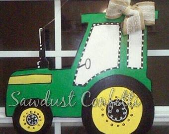 Tractor Door Hanger, Wooden Tractor, Fall Wreath, Fall Door Hanger, Farmhouse Decor