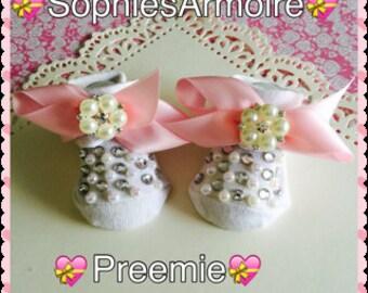 Preemie Booties*Preemie Crib Shoes*Preemie Shoes*Preemie*Preemie Girls*
