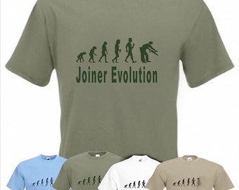 Evolution To Joiner t-shirt Funny Wood Joinery T-shirt sizes Sm To 2XXL