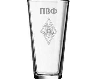Pi Beta Phi Mixing Glass