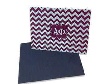 Alpha Phi Chevron Note Cards
