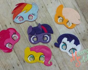 MLP Masks - Pinkie Pie, Applejack, Twilight Sparkle, Rarity, Fluttershy, Rainbow Dash