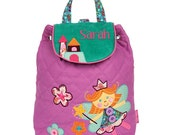 Personalised Quilted Backpack  Fairy