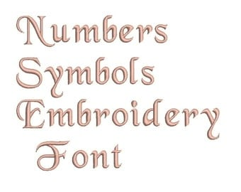 Machine Embroidery Font Designs - Font Letters, Numbers, Symbols Font Alphabet - 0.5,0.75 inch Sizes
