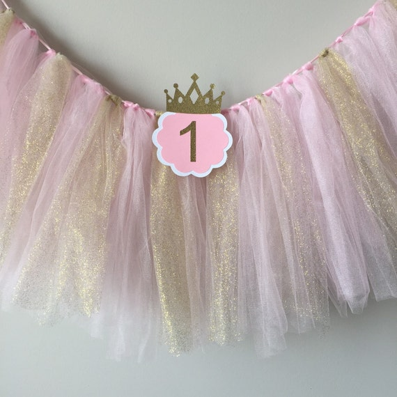 I Am One Pink And Gold Birthday Party Decorations One High: High Chair Tutu Pink And Gold Birthday Party High Chair
