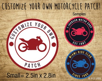 10+ SMALL Circle Motorcycle Patches - Customize your Motorcycle Patches