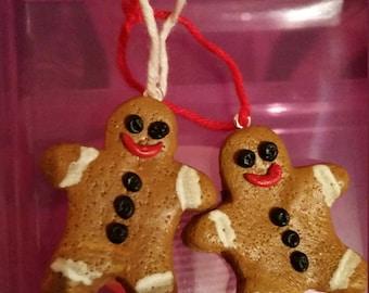 gingerbread man fimo christmas decoration