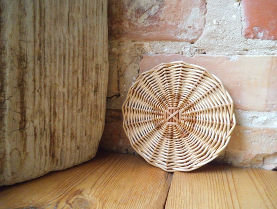 Rattan Wall Decor Round : Rustic woven wicker coaster willow trivet handmade decor round