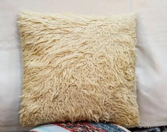 Tulu pillow , Vintage rug pillow 16 x 16 ich (40 cm x 40 cm)