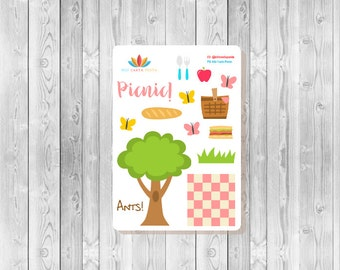 S121 -  14 Picnic Planner Stickers