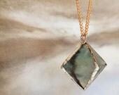 Green Fluorite Diamond Necklace