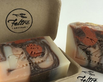 Orange, Cinnamon and Clove Soap - Vegan, Handmade with Organic Oils and Essential Oils.