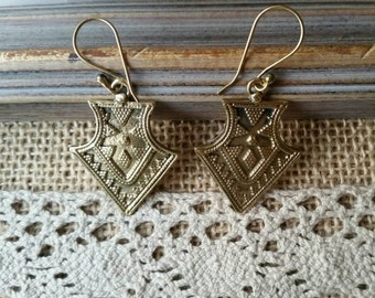 Pair of earrings gypsy triangle