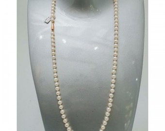 Necklace Mineralife choker of Japanese Pearl with gold clasp