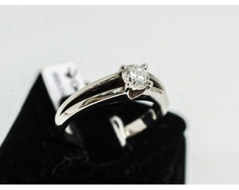 Gold Mineralife Solitaire ring grey and diamond VVSI