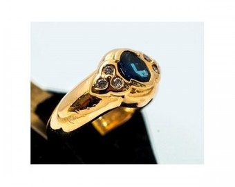 Ring Mineralife ring in Yellow Gold Diamond and Sapphire