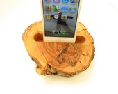 aged olive Wood  Charging Dock - Docking Station Charger for ANY smartphone. Simple, natural, beautiful. One of a kind.