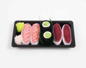 Sushi Socks Box Baby 3 pairs Tuna Salmon Cucumber Maki Cool Gift Present Gadget