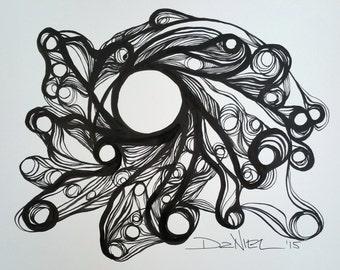 ORIGINAL OOAK Abstract Modern Minimalist Drawing