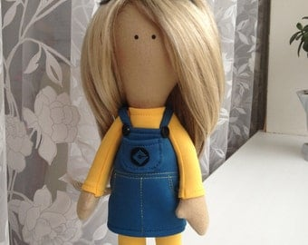 Тextile handmade doll. Made to order