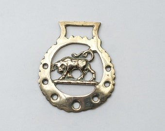 Horse Brass Bull - Christmas Tree Decoration - Taurus - Equestrian Collectable